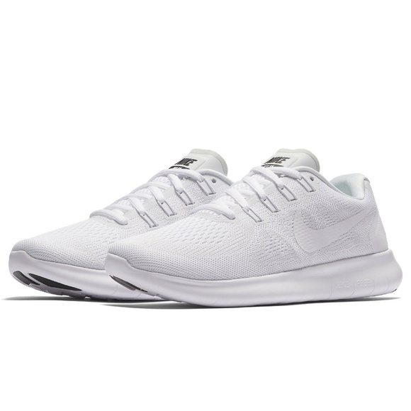 7214c39eb9d53 Nike Women Free Run 2017 White Running Shoes
